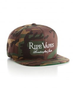 ripe vapes camo hat white stitching