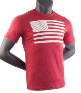 american flag ripe vapes t shirt red
